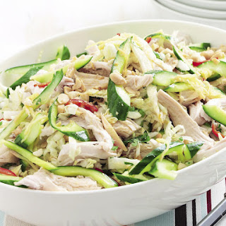 Poached Chicken and Pickled Cucumber Salad.
