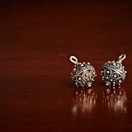 Earrings by Svemir Brkic - Artistic Objects Jewelry ( jewelry, reflection, desk, metal, earrings )
