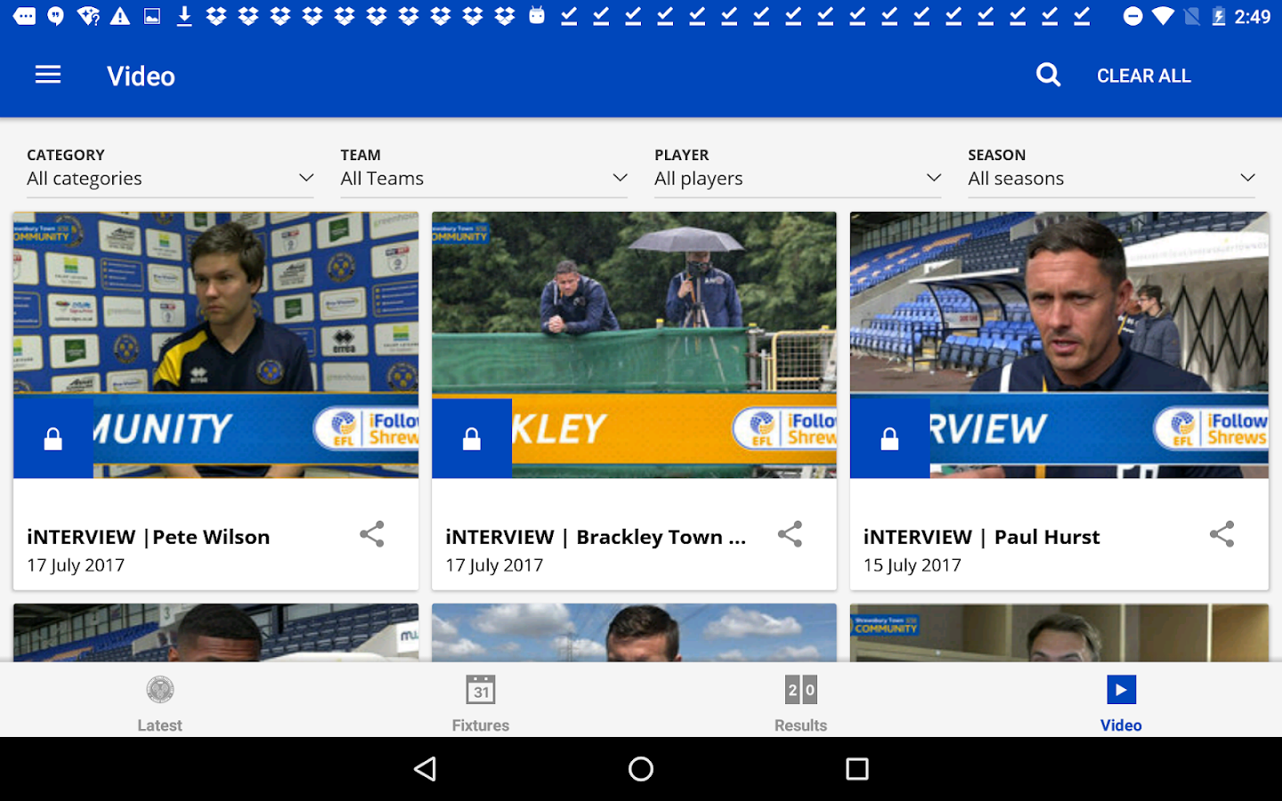 Shrewsbury Town Official App- screenshot