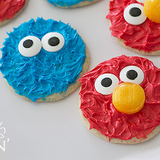 Cookie Monster and Elmo Cookies.