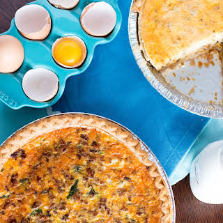 Lighter Breakfast Quiche.