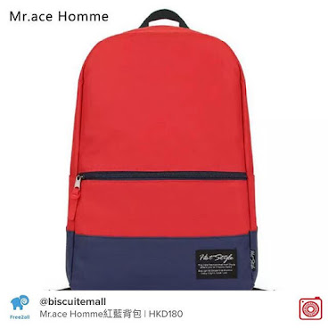 Mr.ace Homme紅藍背包