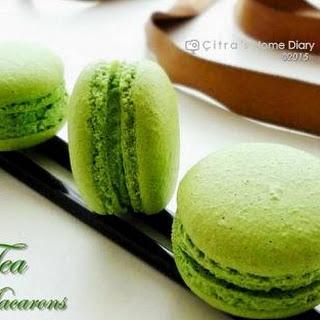Green Tea Macarons with Green Tea Chocolate filling