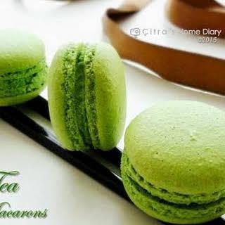 Green Tea Macarons with Green Tea Chocolate filling.