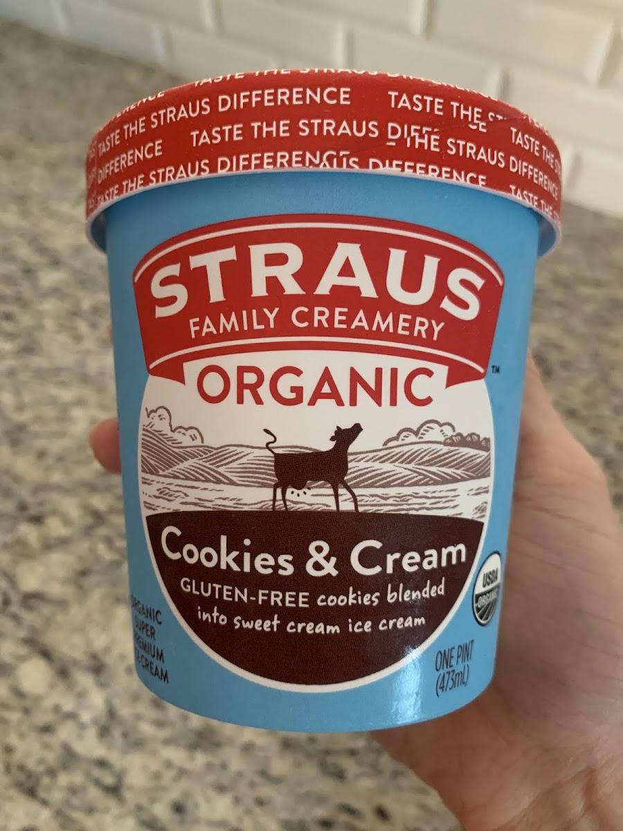 Organic Ice Cream - Cookies & Cream