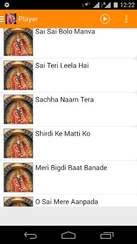 android Sai Baba Bhakti Songs New Screenshot 1