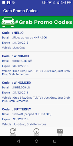 Grab Promotion Codes - Cambodia Taxi download 1