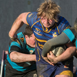 Bursting through... by James Booth - Sports & Fitness Rugby ( club, sports, tackle, team, rugby )