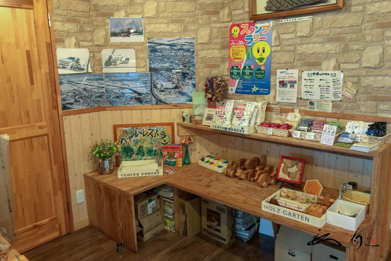 木のおもちゃ、石鹸など小物類色々展示・販売