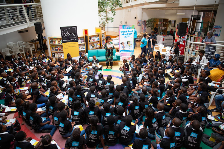 Local bibliophiles making history at Sandton City, Johannesburg on February first.