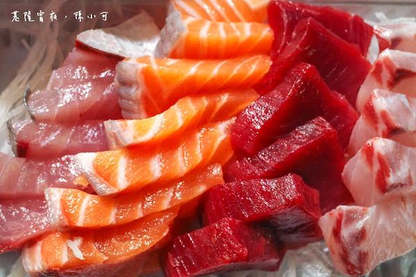 網友推薦心目中最好吃生魚片~朱添鮮魚號,凌晨吃生魚片!基隆仁愛市場(崁仔頂漁市),基隆宵夜