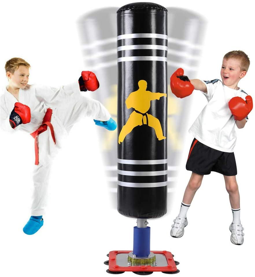Kids Punching bag | Freestanding Punching Bag for Kids with Suction Steel Base
