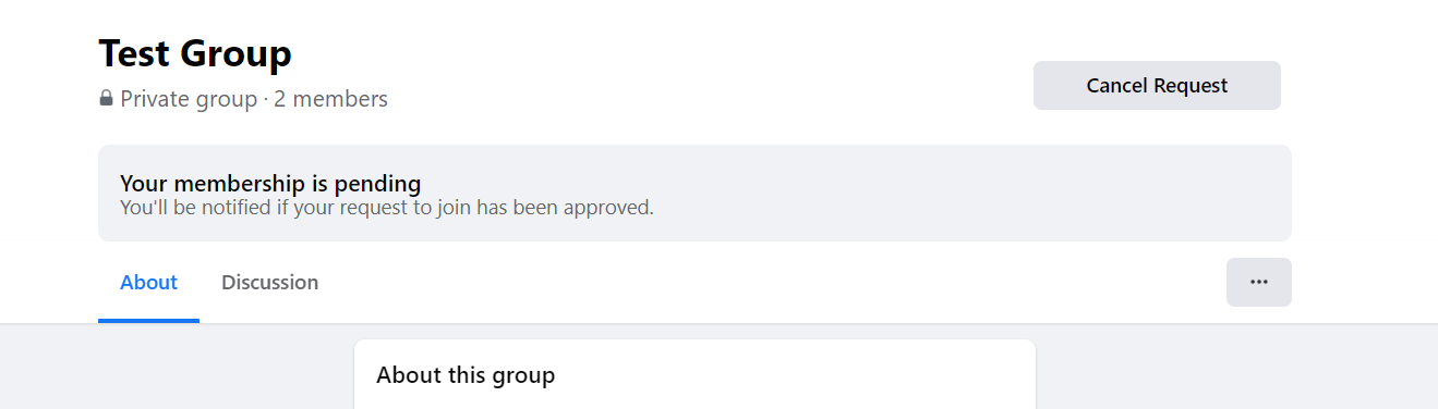 Step 5: If there is no approval process - you will have instant access to the Group. If there is an approval process - you will need to wait until your request is approved or denied (this will vary depending on the Group).