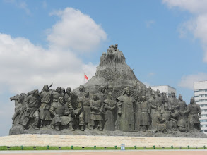 Photo: In the center of town are massive statues heralding Genghis Khaan's achievements.