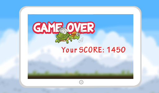 Flying Hungry Turtle Adventure screenshot 1