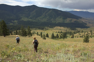 Photo: Elizabeth and Peter hiking down from Mount Sentinel