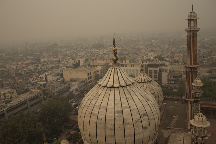 The toxic smog over the old quarter of Delhi, which forced government to declare public health emergency in Delhi, India, on November 2 2019. Picture: GETTY IMAGES/ANADOLU AGENCY/JAVED SULTAN
