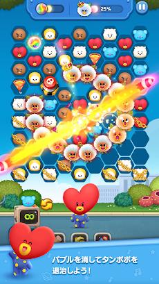 LINE ハローBT21 BT21顔のバブルがパンパン!爽快パズルゲーム!のおすすめ画像3