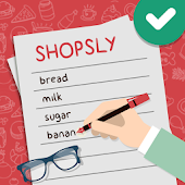 Shopsly - Grocery list