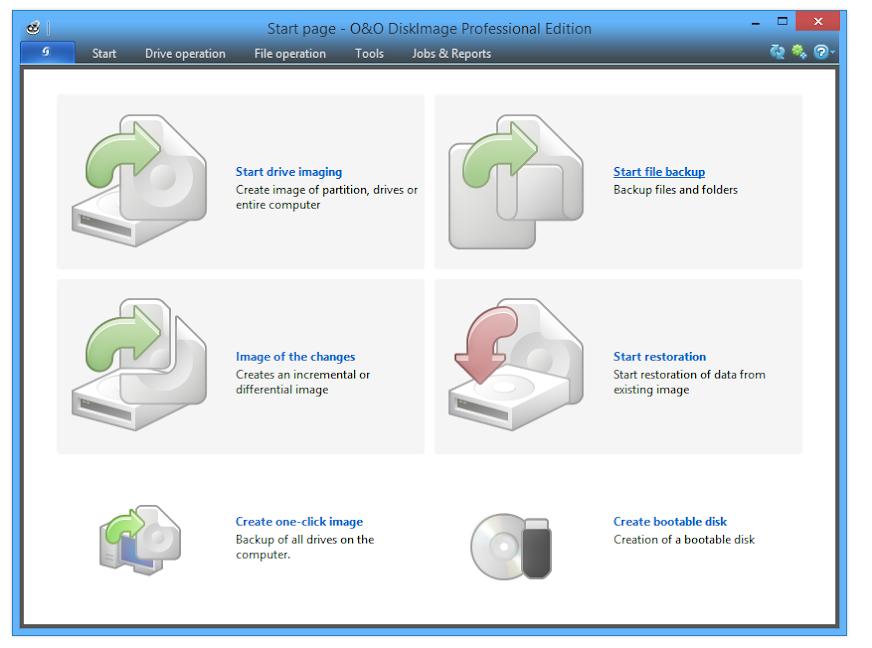 Phục hồi và sao lưu dữ liệu với O&O DiskImage Professional