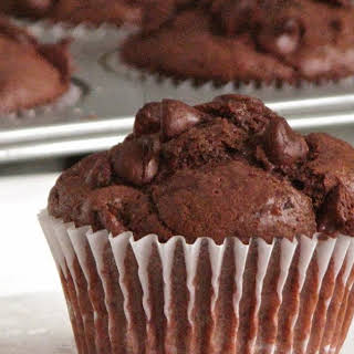 Double Chocolate Buttermilk Muffins.
