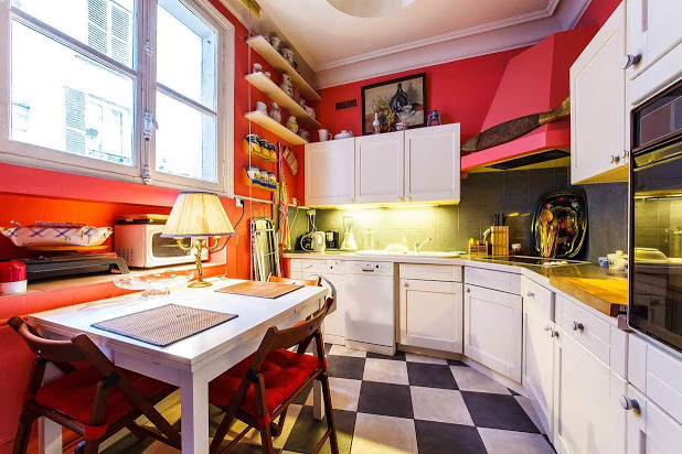 Champs Elysees apartment kitchen