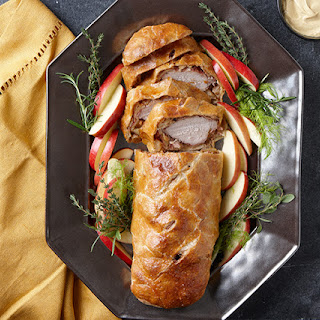 Pork Wellington with Fennel, Apples, and Dijon.