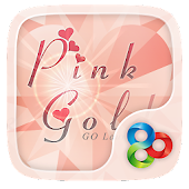 Pink Gold GO Launcher Theme