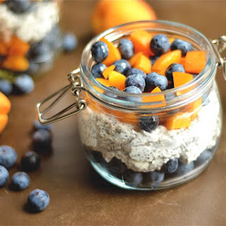 Apricot and Blueberry Chia Pudding