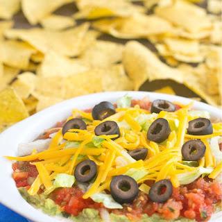 Healthier 7 Layer Taco Dip.