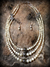 Photo: # 208 FAITH, HOPE & LOVE ~ ВІРА, НАДІЯ Й ЛЮБОВ  vintage Mother of Pearl, silver plate   $130/set SOLD