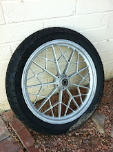 """Photo: """"New"""" used wheel... purchased for only $100! Too bad the tire is old and cracked... it was brand new!"""