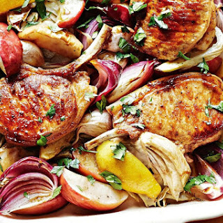 Cider-roast Pork Cutlets With Apple And Fennel