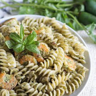 Shrimp and Pesto Fusilli.