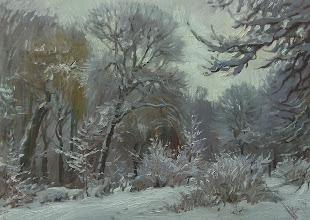Photo: В. Наталушко.Зима., п.о., 50х70, 2013 р.