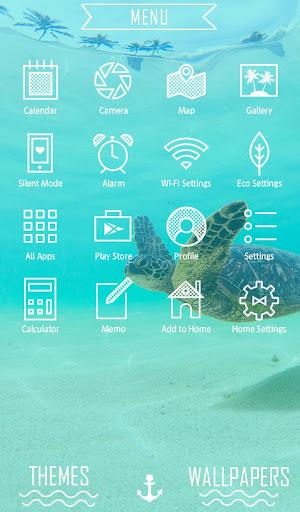Sea Turtle's Swim +HOME Theme 1.0.0 Windows u7528 2