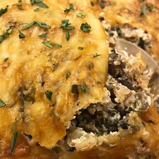 Rice and Mushroom Casserole.
