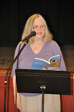 Photo: Barbara Stoner reads her contribution to the RASP poetry anthology.