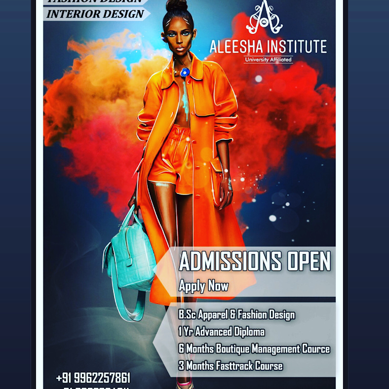 Aleesha Institute Of Fashion Designing Fashion Interior Design Bsc 1yr Diploma 6 3months Certified Courses Online Classes Weekend Part Time Classes Available Fashion Design School In Kilpauk
