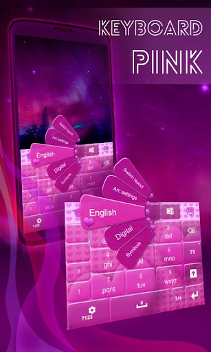 鍵盤粉紅色的心