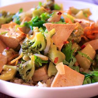 Orange Tofu & Garlic Broccoli