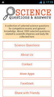Science Questions Answers- screenshot thumbnail