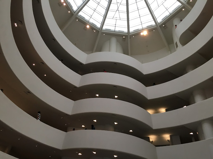 Inside the atrium of the Guggenheim.