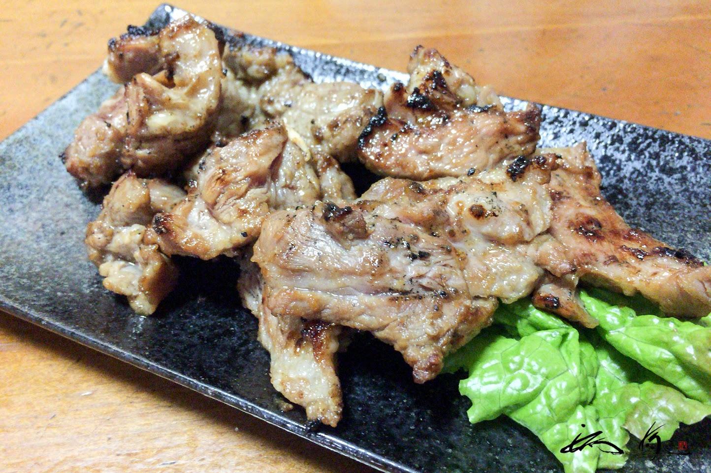 厚切り豚ロース塩焼き