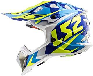LS2-404702054M/162 : LS2-404702054M/162 : Casco enduro offroad motocross SUBVERTER MX470 NIMBLE COLOR BL/AZ/AM TALLA M