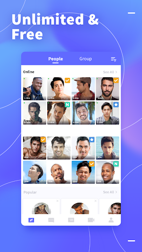 Blued - Gay Video Chat & Live Stream app (apk) free download
