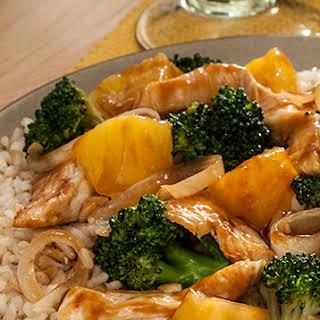 Chicken Broccoli and Pineapple Stir Fry.