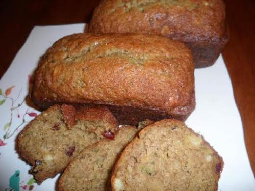 "Pineapple Cranberry Zucchini Bread ""Have made this twice this week and it..."