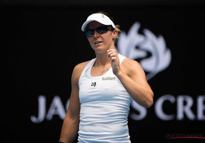 Kirsten Flipkens staat met dubbelpartner Johanna Larsson in halve finales Auckland