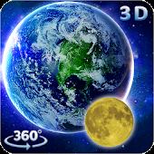 3D Earth & Moon Live Wallpaper 3D Parallax Theme